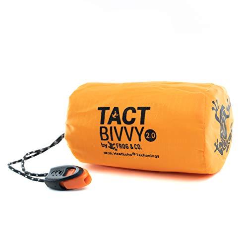 Survival Frog Ultraleichter Thermo-Schlafsack ultrakompakt und im Notfall 2.0 Tactical Orange
