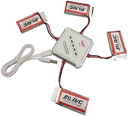 LanLan 4 Pcs Pcs Pcs 3.7 V 800 mah Lithium Batterie  1 PCS Chargeur pour MJX X400 X 400 W X800 X 300C S670 V950HD V950str HS200W Pièces de Rechange | Design Attrayant  568772