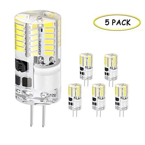 G4 LED Lampe, Jpodream® 3.5W 48X 3014SMD OLED Leuchtmittel, 300LM, Ersatz für 35W Halogenlampen,12V AC/DC, 6000K Kaltweiß, 360° Abstrahlwinkel LED Birnen - 5er Pack