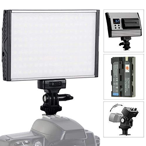 Tolifo PT-15B Videoleuchte LED Dimmbare Videolicht Videolampen 144PCS Kamera Licht 3200K-5600K Fotografie LED-Beleuchtung für Canon Nikon Sony Panasonic DSLR Camcorder mit F550 Akku KEIN Ladegerät