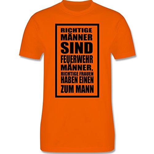 Feuerwehr - Feuerwehr - Richtige Männer - Herren Premium T-Shirt Orange