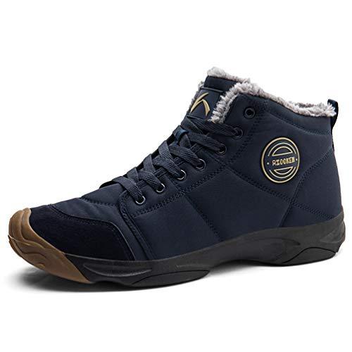 Axcone Winterschuhe Damen Herren Warm Gefüttert wasserdicht Winterschuhe Winter Outdoor Boots Wanderstiefel Stiefel Unisex - Mehrfarbig 46EU
