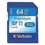 Verbatim  SecureDigital SDXC, Class 10, 64GB, 90 MB/s