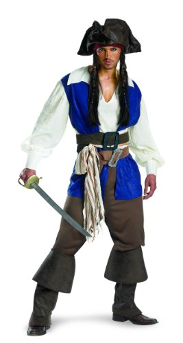 New Disney Herren/Teen Jack Sparrow Deluxe Piraten ()