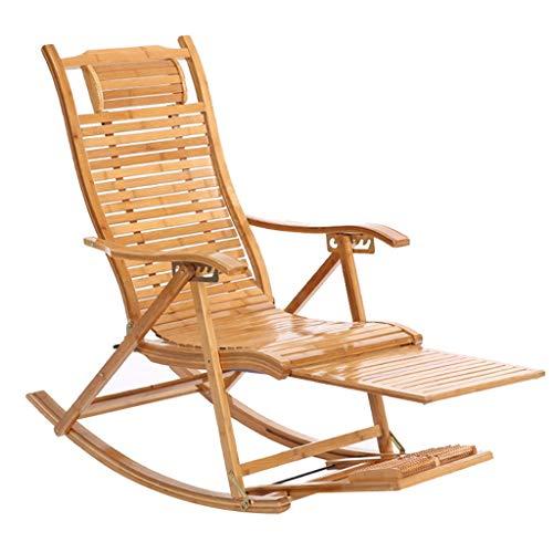Chaise longue de jardin Beach Yard Piscine Chaise pliante inclinable Chaise longue en bambou Intérieur Chaise d'extérieur à bascule Relax