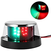 Konesky Luces de navegación para Barcos, LED Lámpara de navegación Marine LED Starboard IP65 Impermeable Verde y roja Luz Lateral para Yates Skeeter, DC 12V