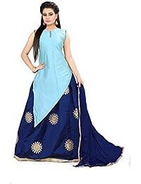 Shree Rang Creation Sky Blue Designer Taffeta Silk Lehenga Choli(AFL-34_Sky_Blue_Free Size)
