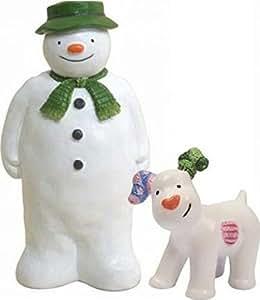 Anniversary House : Raymond Briggs The Snowman & The Snowdog Cake Decoration Set