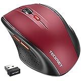 TeckNet Wireless Maus, Classic 2.4G USB kabellose M�use Optischer PC Computer Laptop Maus mit 18 Monaten Akkulaufzeit, 2400 DPI 5 Anpassungsebenen, Nano-Empf�nger, 6 Tasten f�r Windows Mac Macbook Linux Bild