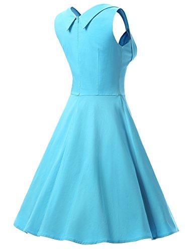 Dresstells, Version2.0 Vintage 1950's Audrey Hepburn robe de soirée cocktail, bal style années 50 Rockabilly Swing Bleu