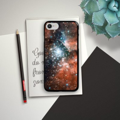 Apple iPhone X Silikon Hülle Case Schutzhülle Galaxy Space Galaxie Hard Case schwarz