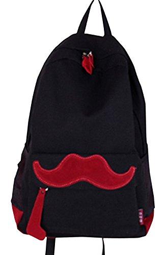 TheWin - Zaino pratico per passeggiate all'esterno Hot Pink Black mustache