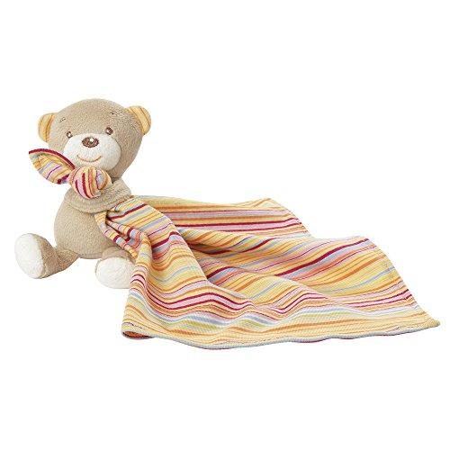 Fehn 160840 Teddy mit Schmusetuch/Stofftier mit Schnuffeltuch zum Kuscheln, Greifen, Fühlen und Liebhaben für Babys und Kleinkinder ab 0+ Monaten
