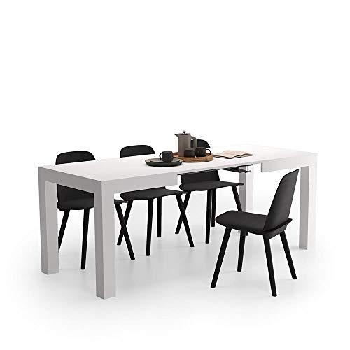 Mobili Fiver, Tavolo Allungabile First, Bianco Frassino, 120 x 80 x 76 cm, Nobilitato, Made in Italy, Disponibile in Vari Colori