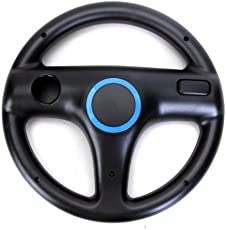 Generic Mario Kart Racing Steering Wheel for Nintendo Wii Remote Motion Plus - Black