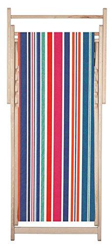 Chaise longue transat chilienne Cabanon - Les Toiles du Soleil