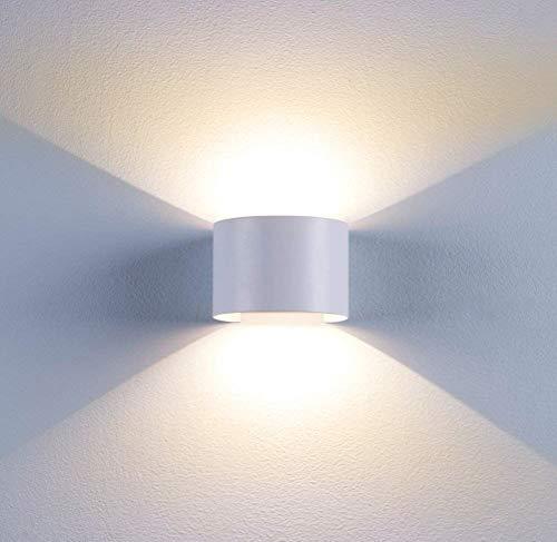 LED Wandleuchte Innen Außen Warmweiß mit Einstellbar Abstrahlwinkel 12W IP65 Up Down
