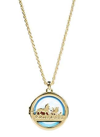 Scne Roi Lion Collier Plaqu Or Hakuna Matata Mdaillon Style De Disney Couture