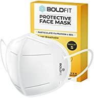 Boldfit N95 mask for face (Pack of 5) Anti Pollution, protective.Third Party Tested by manufacturer at SGS &am