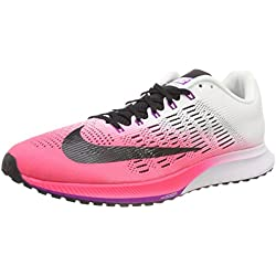 Nike Wmns Air Zoom Elite 9, Zapatillas de Running para Mujer, Rosa (Racer Pink/White/Vivid Purple/Black), 40.5 EU