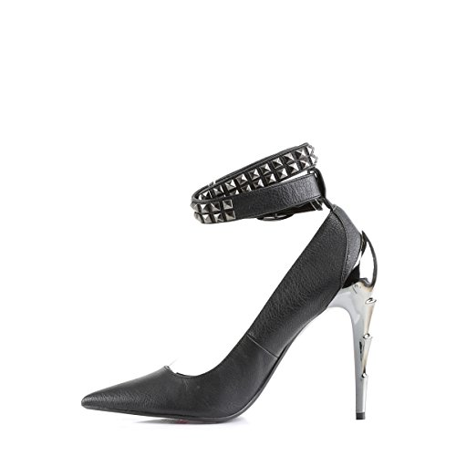 Demonia Vegan High Heel Pumps Voltage-05 Mattschwarz