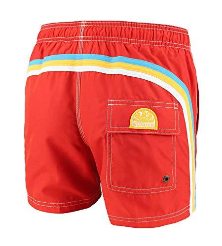 SUNDEK BS/Rb-Elastic Taille Short de Bain Homme - Rouge, M