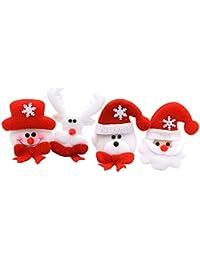 Vococal® 12 Pcs Père Noël/Noël Led Clignotant Insigne de Poitrine / Broche/Pin Style de Hasard