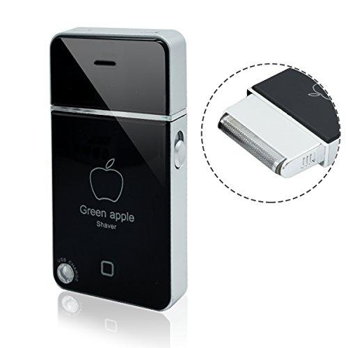 Mini Tragbar USB Elektrorasiere, T-Antrix MobileShave Folien Reiserasierer Elektrischer Rasierer Rasierapparate Bartschneider Herrenrasierer