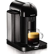 Nespresso, Pod Coffee Machine, Vertuo, Black finish by Krups, XN901840, 1260 W (Refurbished)
