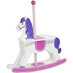 Olivia's Little World - Cheval carrousel à bascule bois poupée, TD-0097A