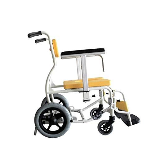 A WALKER Manuale Auto-propelledAluminum Lega Multifunzione Bagno Antisdrucciolevole Chair Bathing Anziani Sedia a rotelle con Ajustable Altezza sedie a rotelle ArmrestAll Fuorist