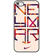 Haroon Premium PC Nike 'Ronaldo and Neymar Cell Phone Case For iPhone 5 5S SE Black BD##57382