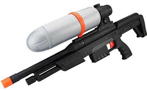 XXL Wassergewehr Armee BW Shooter 50cm Spritz-Waffe Rot Schwarz Water-Blaster Army-Waffe Schlacht Kinder-Spielzeug Wasser-Spritze Sommer-Spielzeug Spielzeug-Pistole Wasser-Gewehr Aqua-Gun Pool-Kanone -