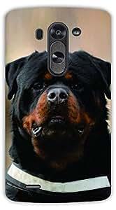 Crazy Beta Rootweiler dog design Printed mobile back cover case for LG G3