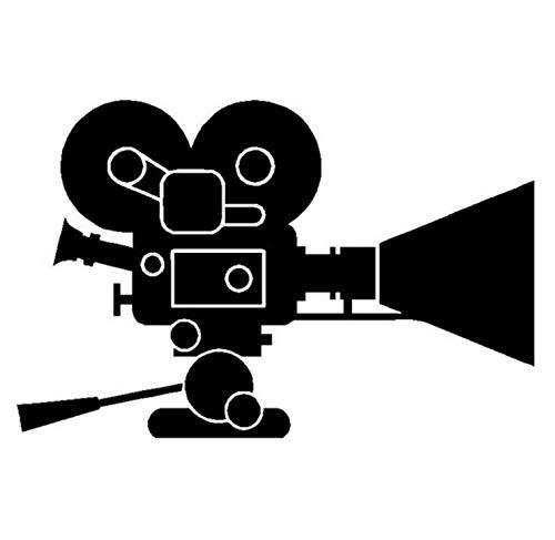 Fahrzeug Autoaufkleber 14.8CM * 9.7CM Interessantes Filmkamera-Abziehbild-Vinyl 2 Stück