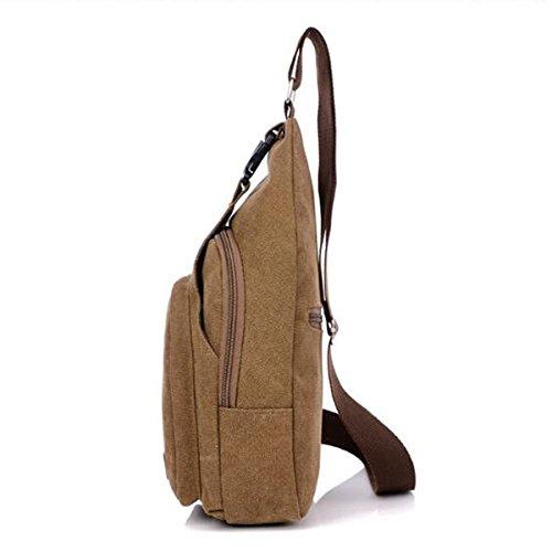 Freizeit Licht Kühlen Mehrzweck Leinwand Unbalance Gym Rucksack Sack Schulranzen Für Einen Mann Multicolor Brown2