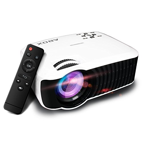 Beamer, ABOX T22 Full Hd Projektor Mini Heimkino LED Beamer 2000 Lumens Kontrast 2000:1 unterst¨¹tzt 1080P / USB / VGA / SD / HDMI / AV f¨¹r Xbox / iPhone / Smartphone / PC