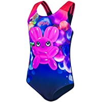 Speedo Shimmer Bounce Essential Applique Bañador, Bebé-Niñas, Azul Marino/Rosa (Post-it), L