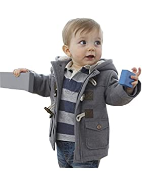 MissChild Baby Kinder Jungen Wintermantel mit Kapuze Steppjacke Winter Herbst Hooded Oberbekleidung Warm Fleece...