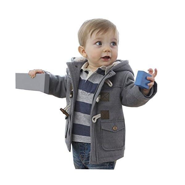 MissChild Abrigo de Capucha Bebé otoño Invierno, Chaqueta Ropa Manga Larga Acolchado Outerwear para Niños 1