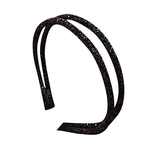 YWLINK Damen Kristall Kristall Strass Abendessen Stirnband Handgefertigt Braut Hochzeit Party Haarschmuck MäDchen Elegant Haarband