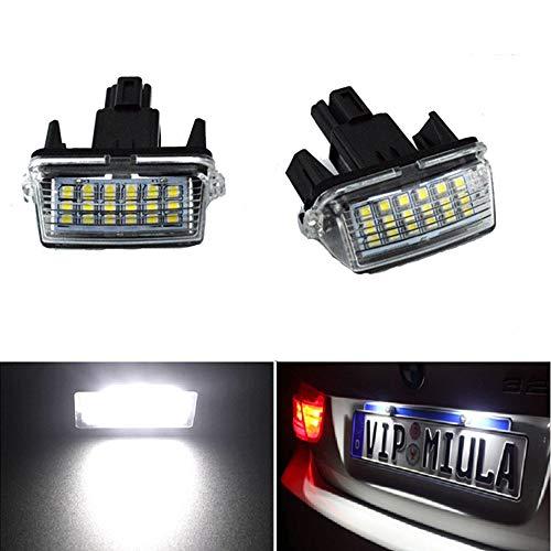 Toyota Kennzeichenbeleuchtung - Für Toyota Camry/Yaris/EZ/VIOS 12V LED weißes Licht (2 Stück) (Toyota Camry Lichter)