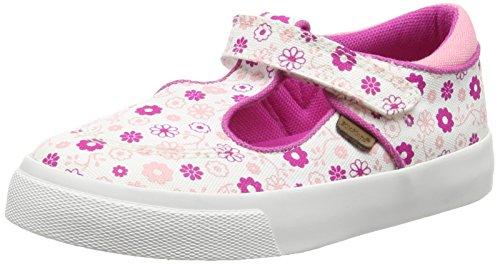 KickersTovni T Textile Infant, White/ Dark Pink - Scarpe da Ginnastica Basse da ragazza' ,Bianco, 30 EU