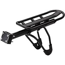 Transportin Porta Equipaje Parrilla para Bicicleta de Doble Suspension Base Regulable y apoya alforjas desmontable bicicleta 15Kg 3124