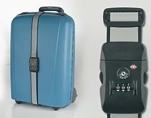 sangle pour valise avec cadenas chiffres tsa travel bagages. Black Bedroom Furniture Sets. Home Design Ideas