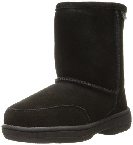 BEARPAW Kid's Meadow Toddler Boot, Black II, 11 M US Little Kid (Black Engineer-stiefel)