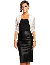 Damen Bolero Schulter Jäckchen Spitze ideal zum Abenkleid Cocktailkleid Kleid