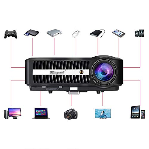 HT BEI Projector - Projection Size 40-300 Inches  Screen Size 40-300 Inches  Brightness  lumen  8000-9900  Resolution 1280X800dpi  Wireless With Screen  Keystone Correction  Suitable For Home  Busines