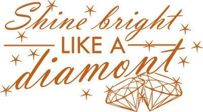 Adesivo Sticker con Swarovski per Living premio Shine bright Diamond (90x50cm // 083 Nocciolo // Elemento di Swarovski set 12 pz)