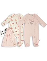 The Essential One - Baby Mädchen Schlafanzuge/Schlafanzug/Einteiler/langarmeliger Body/ Strampler (2-er Pack mit Beutel) - ESS175